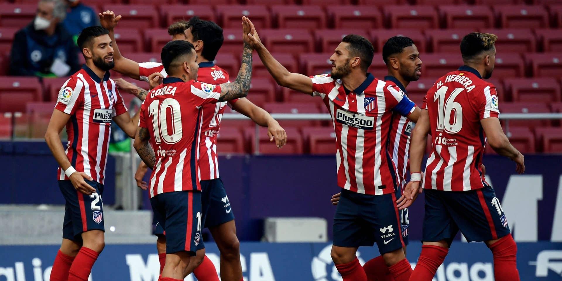 Belges à l'étranger: Carrasco inscrit un nouveau but et replace l'Atlético seul leader, Dries Mertens très ému après son but pour Naples (VIDEO)