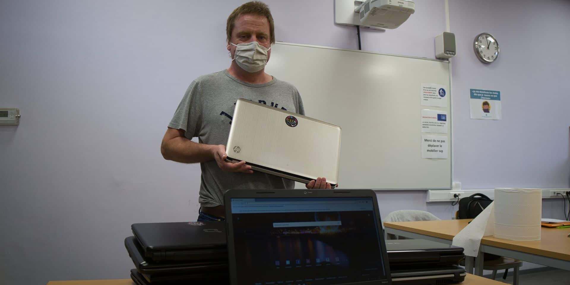 Élan de solidarité à Braine-le-Comte: 30 ordinateurs reconditionnés par un professeur pour ses élèves