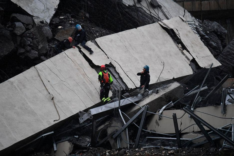Trois Français retrouvés parmi les victimes de l'effondrement du pont à Gênes
