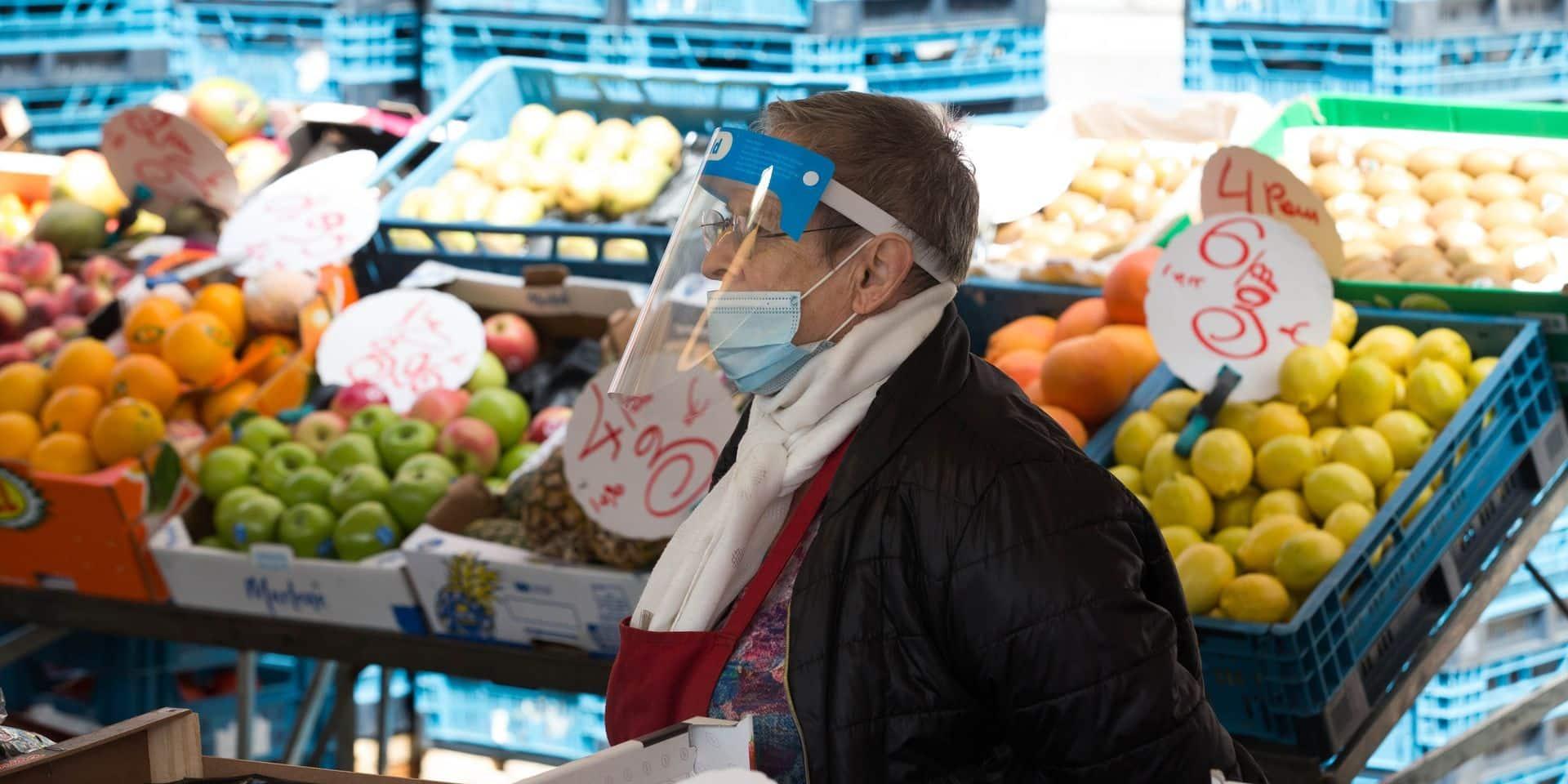 Un marché hedomadaire à Jemeppe