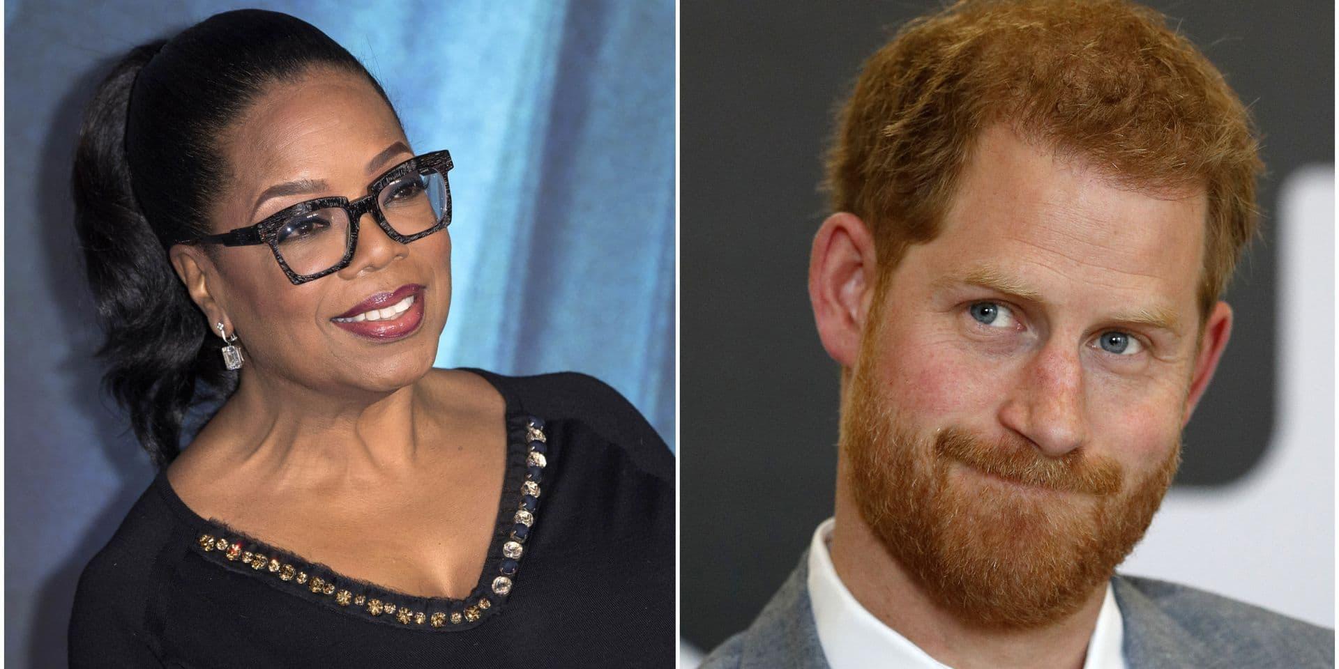 """Le prince Harry se lance dans la création d'une série avec Oprah Winfrey: """"Incroyablement fier"""""""