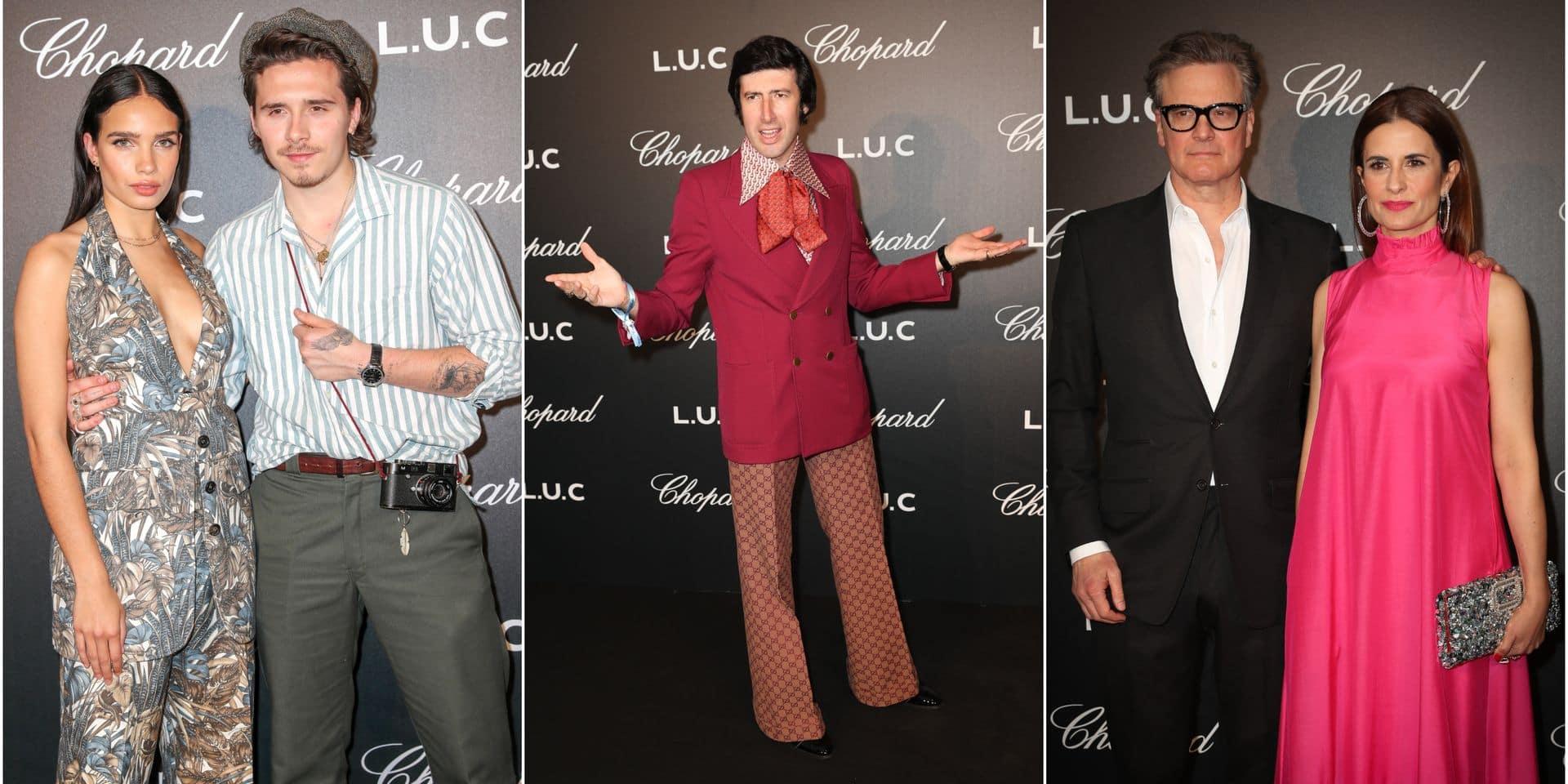 Brooklyn Beckham au bras de sa belle, Colin Firth, Jacky Ickx... la soirée dandy de Chopard à Cannes