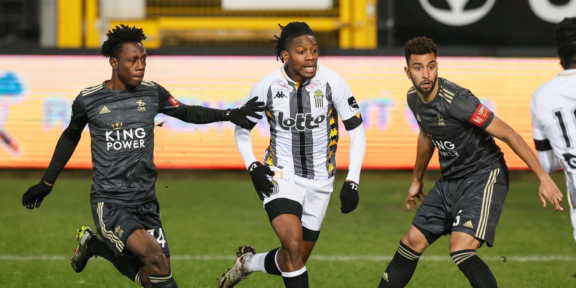 Charleroi partage contre l'OHL dans une rencontre animée (1-1), Gand revient dans les ultimes secondes contre Saint-Trond (1-1)