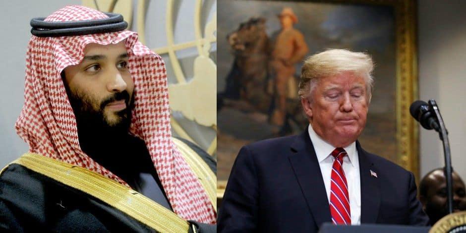 """Trump s'est vanté d'avoir """"sauvé la peau"""" du prince héritier saoudien après le meurtre de Khashoggi"""