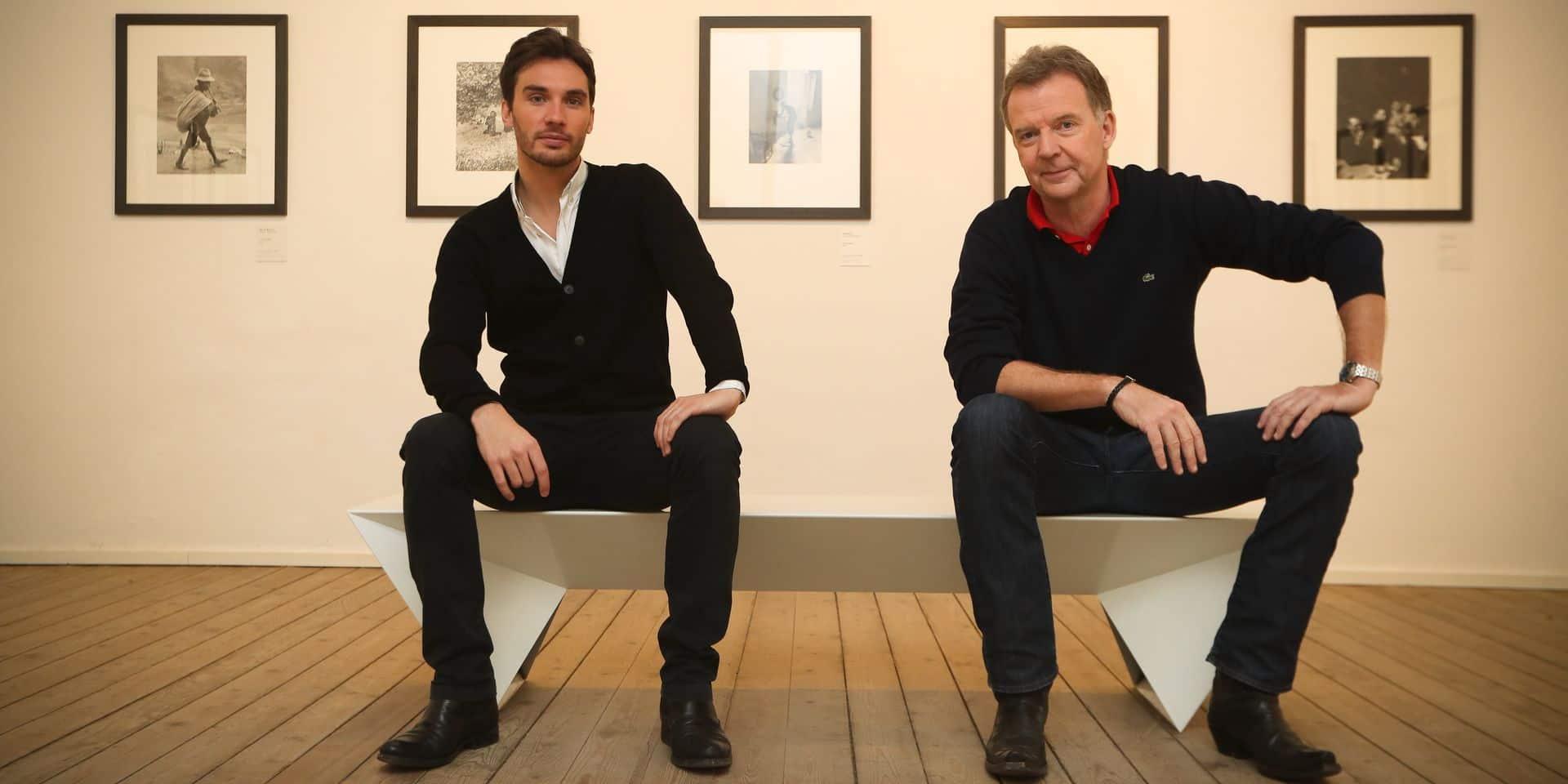 Photos Bernard Demoulin: Francois Debrigode et Laurent Mathieu presentateurs du JT de la Rtbf La Une