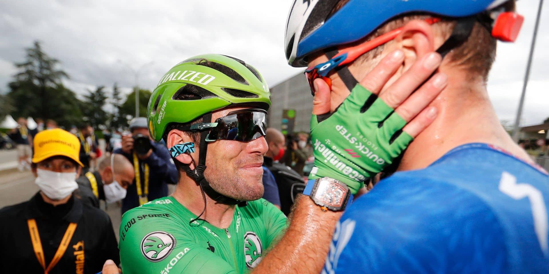 "Mark Cavendish peut remercier l'armada Quick-Step: ""Je n'ai dû travailler que 150 mètres"""