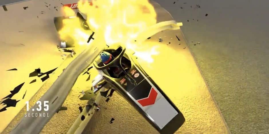 Une incroyable reconstitution 3D du crash de Romain Grosjean montre qu'il a échappé au pire: