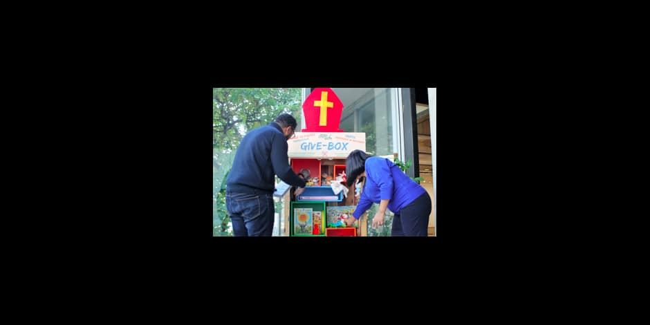 Etterbeek : une armoire à don pour donner une deuxième vie à ses jouets à l'occasion de la Saint-Nicolas