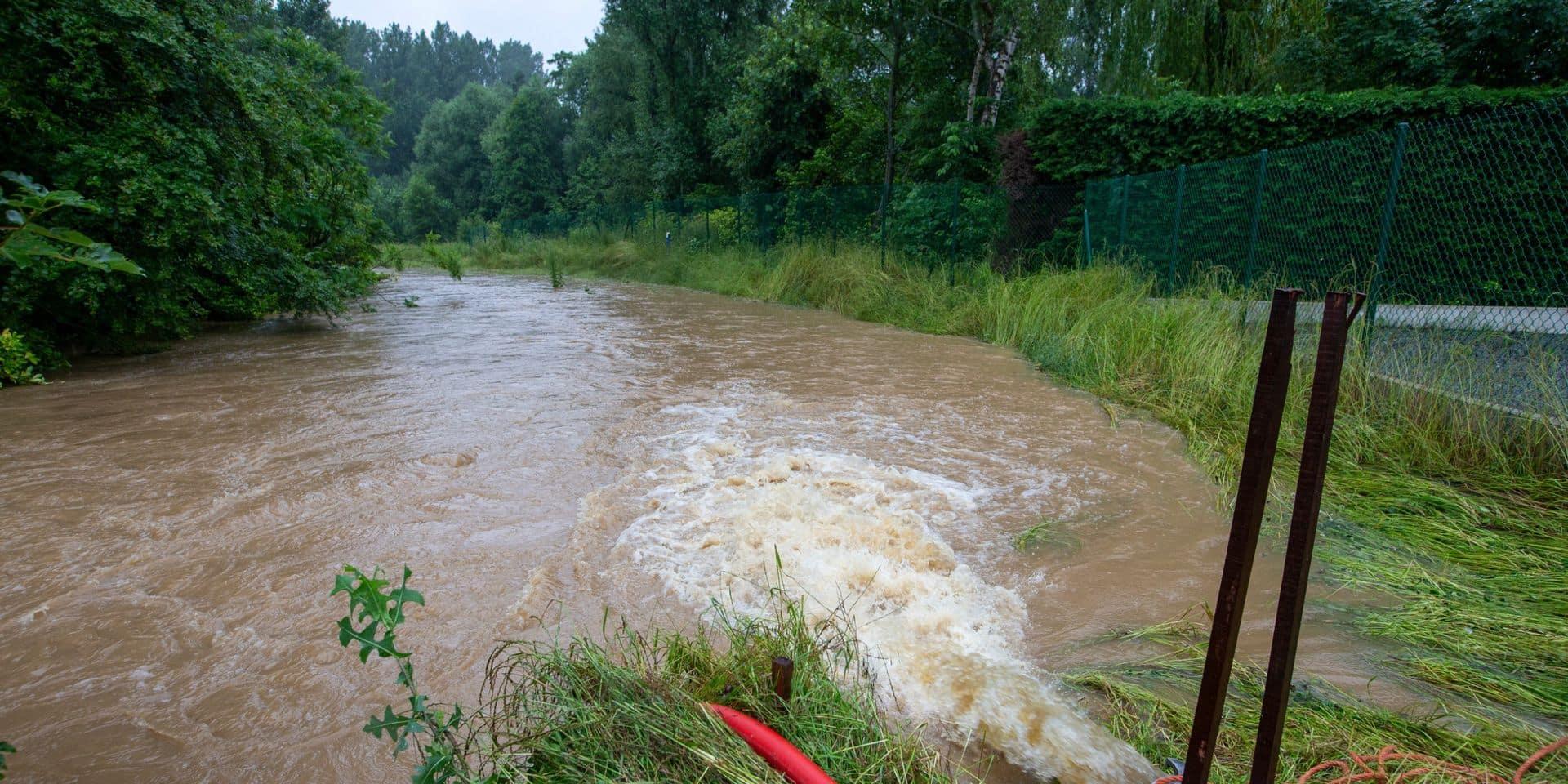 Intempéries: des débordements de cours d'eau et des caves inondées dans l'est du Brabant wallon