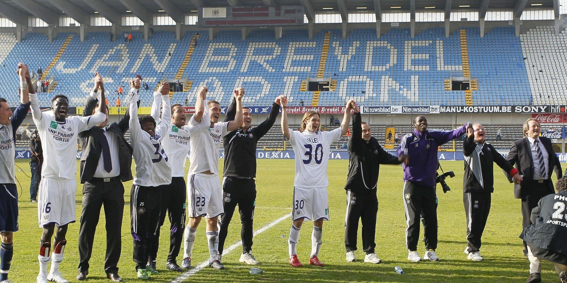 BELGIUM SOCCER PLAY-OFF 1 DAY6 ANDERLECHT CHAMPION