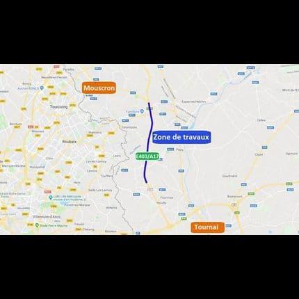 E403/A17 : Un mois de travaux entre Tournai et Mouscron