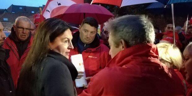 Tournai : Les militants de la FGTB ont rencontré la ministre Marghem - La DH