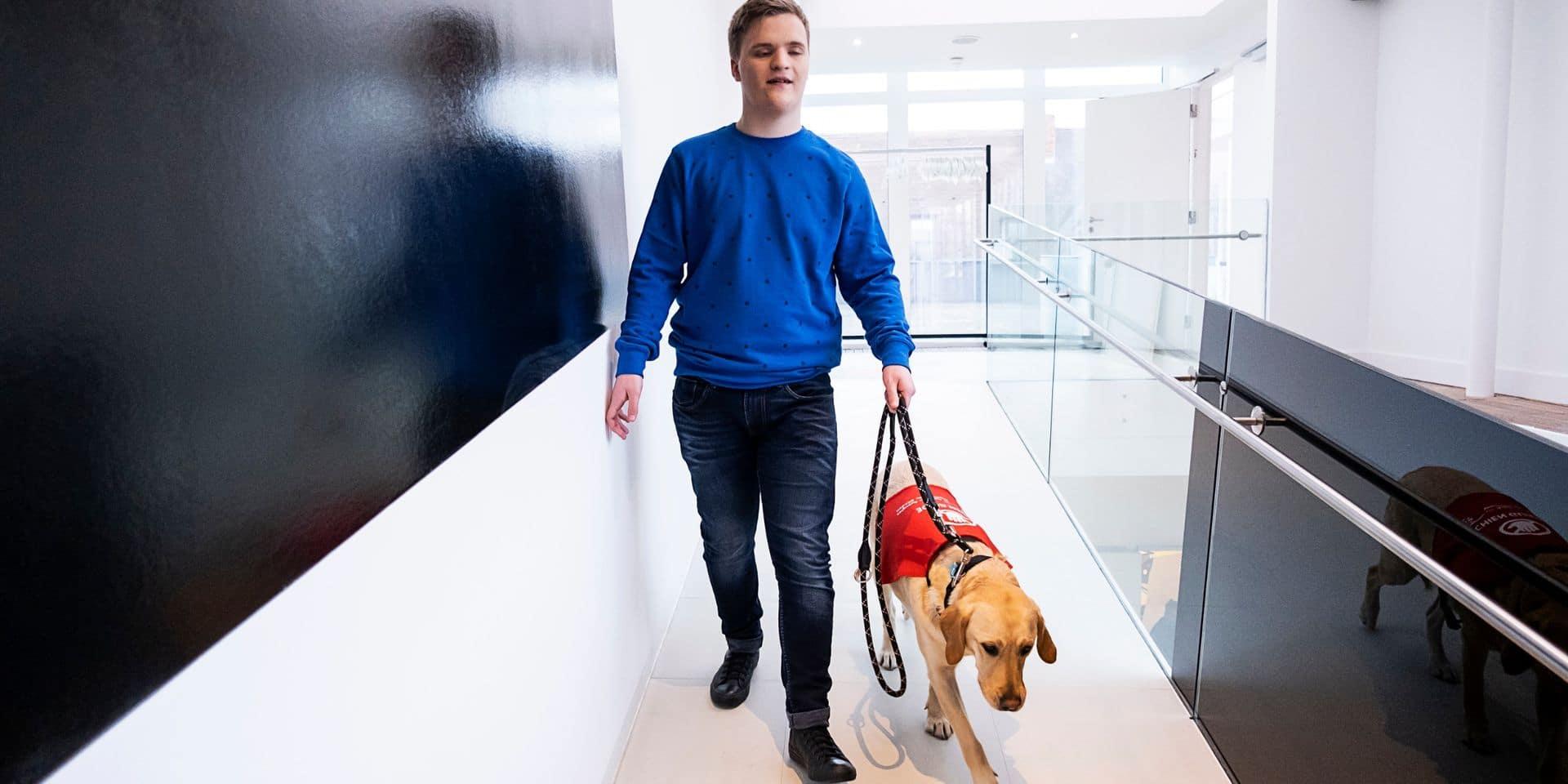 """Ghlin : L'association """"Les amis des aveugles"""" a formé le premier chien guide pour un adolescent"""