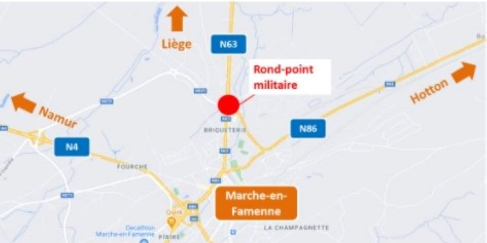 Marche-en-Famenne : réhabilitation du rond-point militaire
