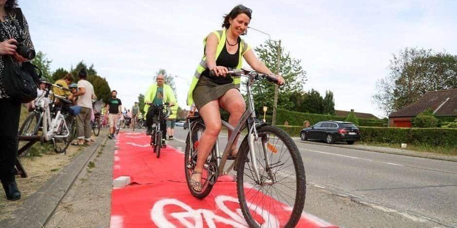 Hannut: une nouvelle action cycliste