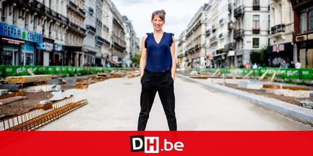 Bruxelles - Pietonnier: Mobilisation des commercants et des citoyens à l'initiative de Virginie Monu du Jour de Fete contre les degats commerciaux engendres par le pietonnier