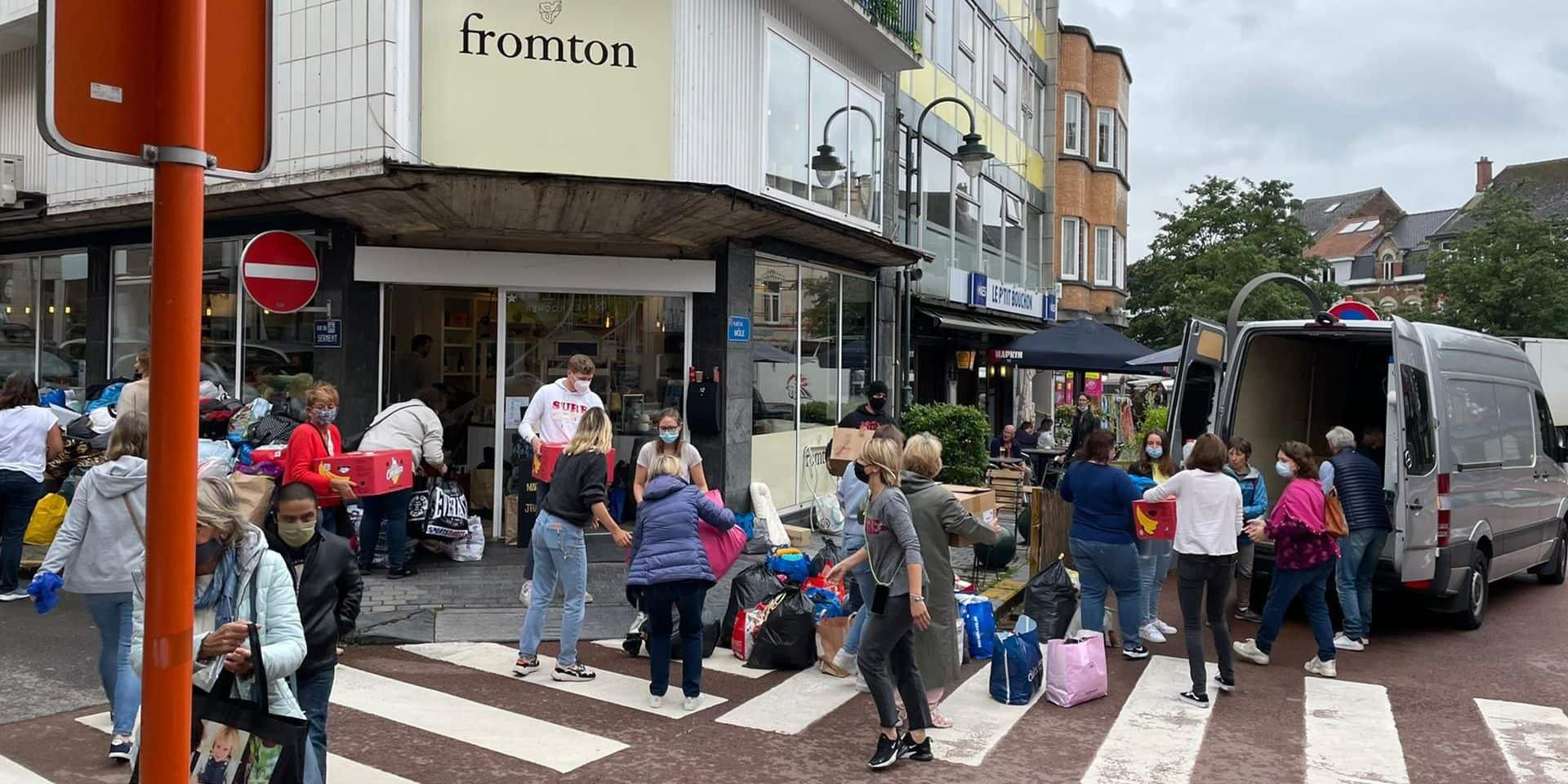 Enorme élan de solidarité pour la collecte de dons au restaurant Fromton à Braine-l'Alleud (Photos+vidéo)