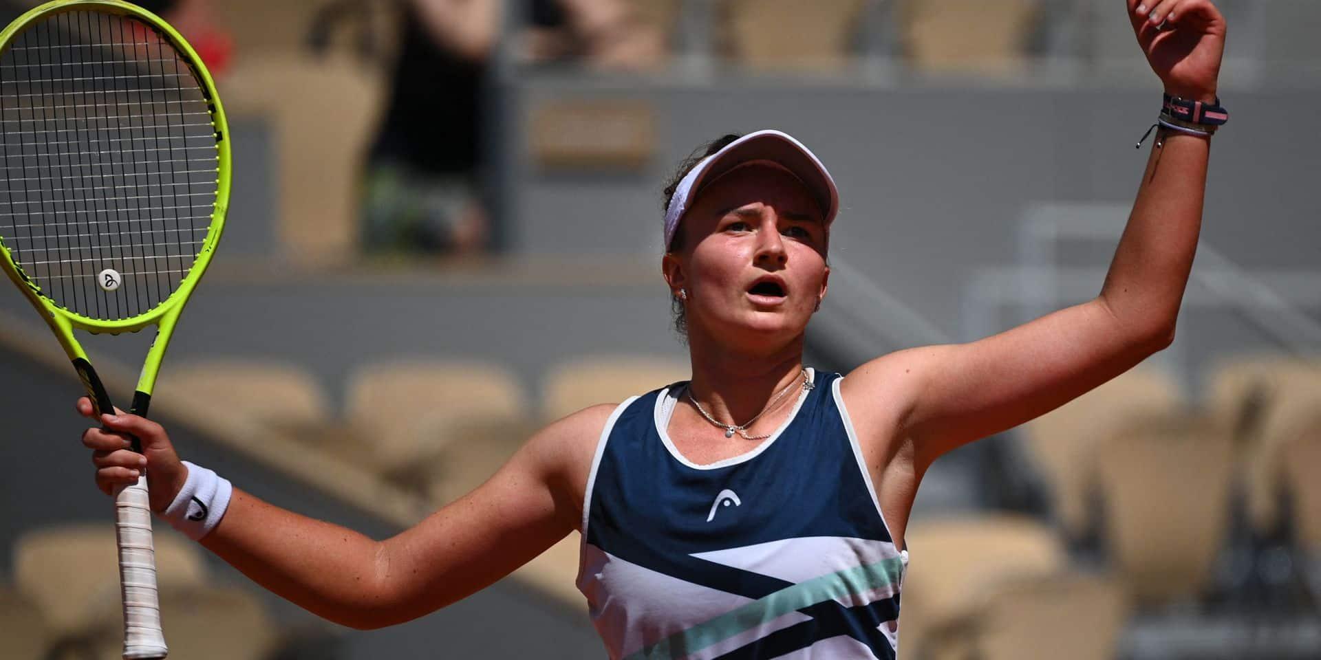 Krejcikova en demies à Roland-Garros: lundi, elle ne voulait pas monter sur le court