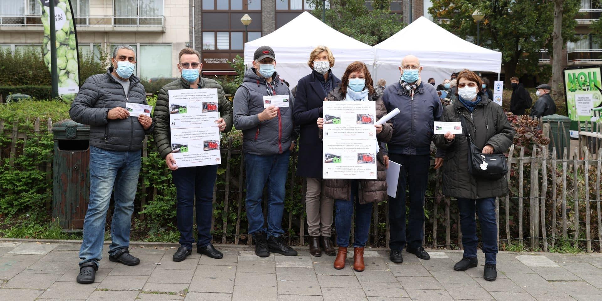 Neder-Over-Heembeek : les opposants au tram dénoncent une tentative d'intimidation de la part de la police et de Philippe Close