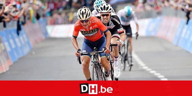 Italian Domenico Pozzovivo of Bahrain-Merida pictured in action during stage 18 of the 101st edition of the Giro D'Italia cycling tour, 196 km from Abbiategrasso to Prato Nevoso, Italy, Thursday 24 May 2018. BELGA PHOTO YUZURU SUNADA FRANCE OUT