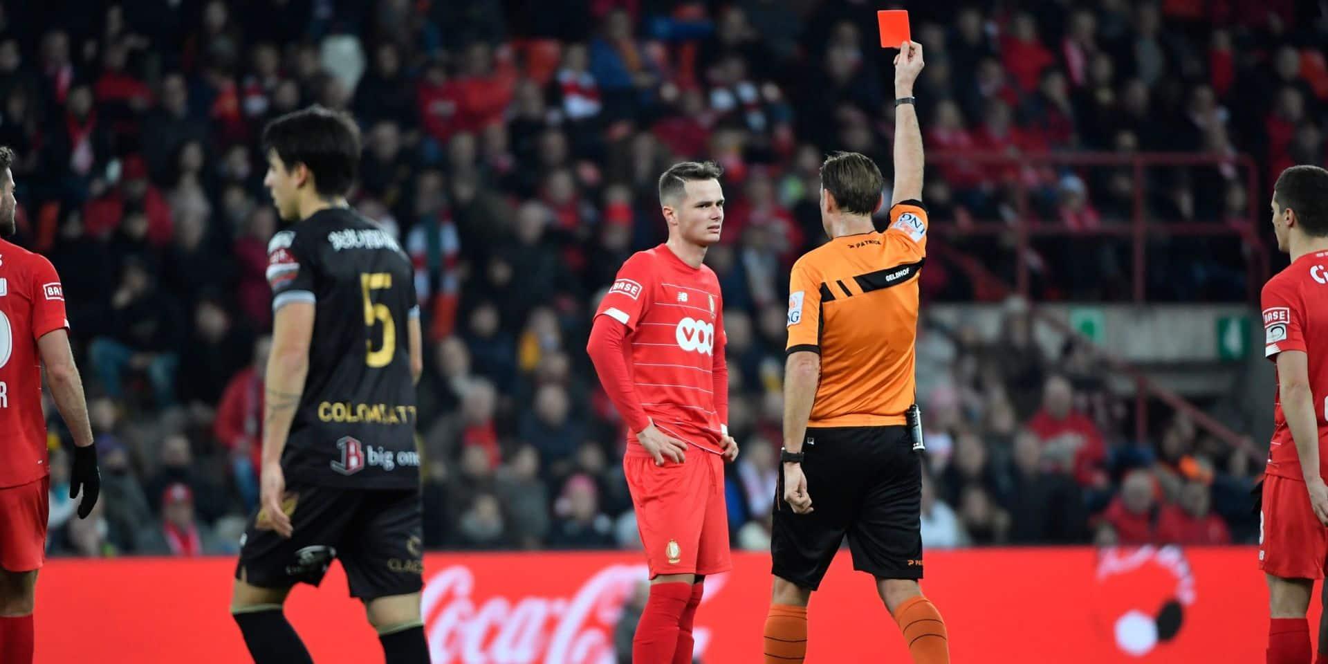 Le Parquet fédéral sanctionne Zinho Vanheusden de cinq matchs dont un avec sursis, le Standard ira en appel