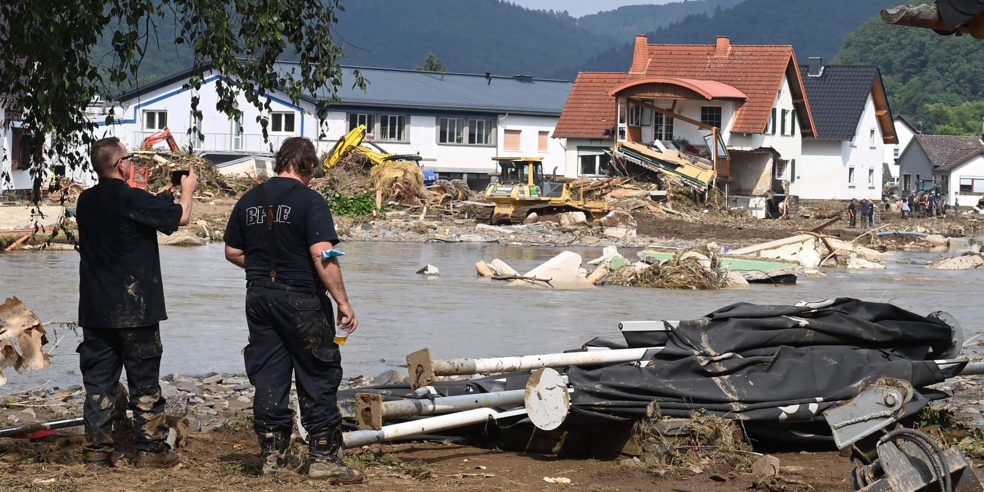 Inondations: le bilan grimpe à 156 morts en Allemagne, l'Autriche en état d'alerte, l'Italie touchée par de fortes pluies