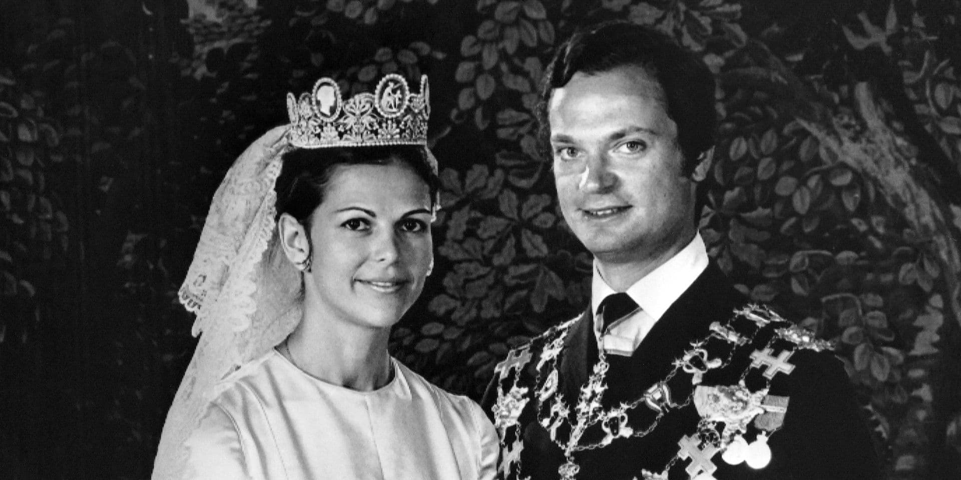 45 ans de mariage pour les souverains suédois Carl Gustaf et Silvia Sommerlath