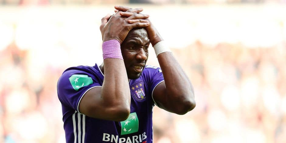 Anderlecht's Yannick Yala Bolasie looks dejected during a soccer match between RSC Anderlecht and Club Brugge KV, Sunday 24 February 2019 in Brussels, on the 27th day of the 'Jupiler Pro League' Belgian soccer championship season 2018-2019. BELGA PHOTO VIRGINIE LEFOUR