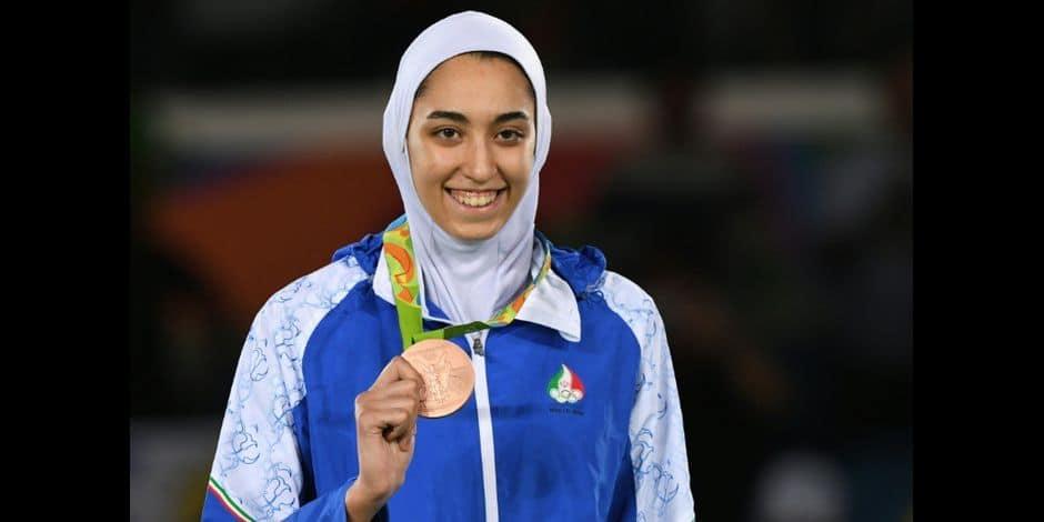 La taekwondoïste Kimia Alizadeh a fui l'Iran!