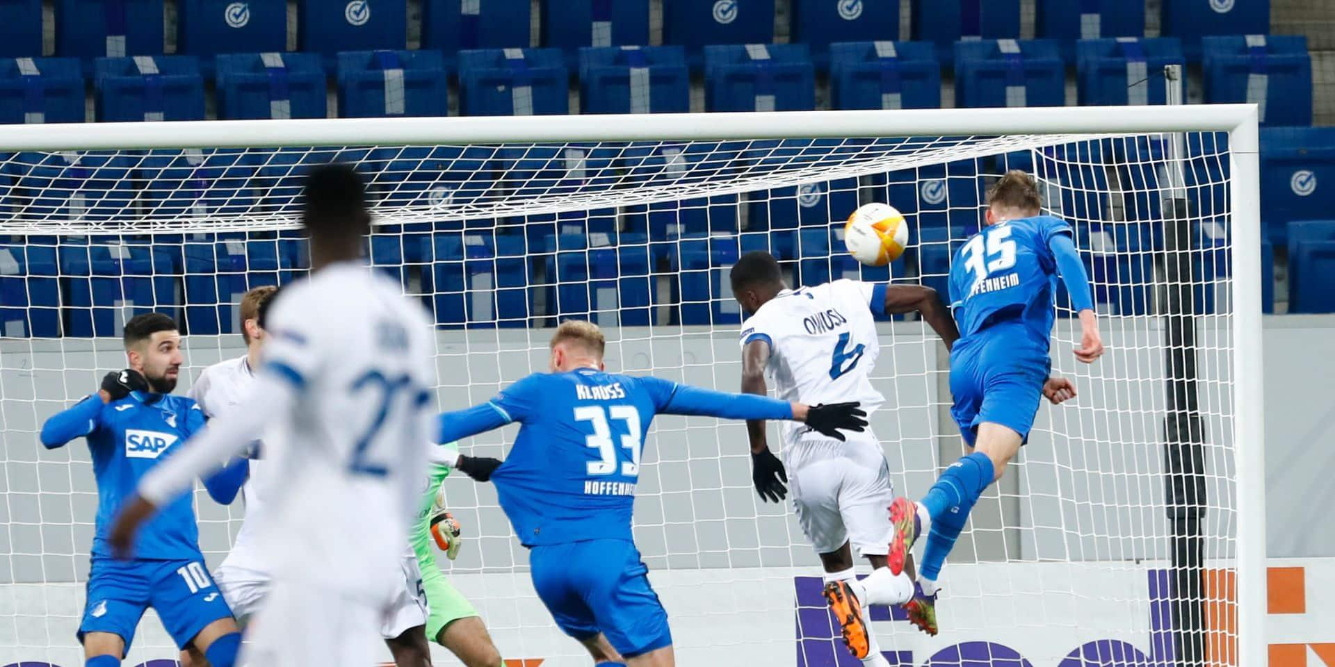 Hoffenheim bat La Gantoise, l'Antwerp s'incline à Tottenham