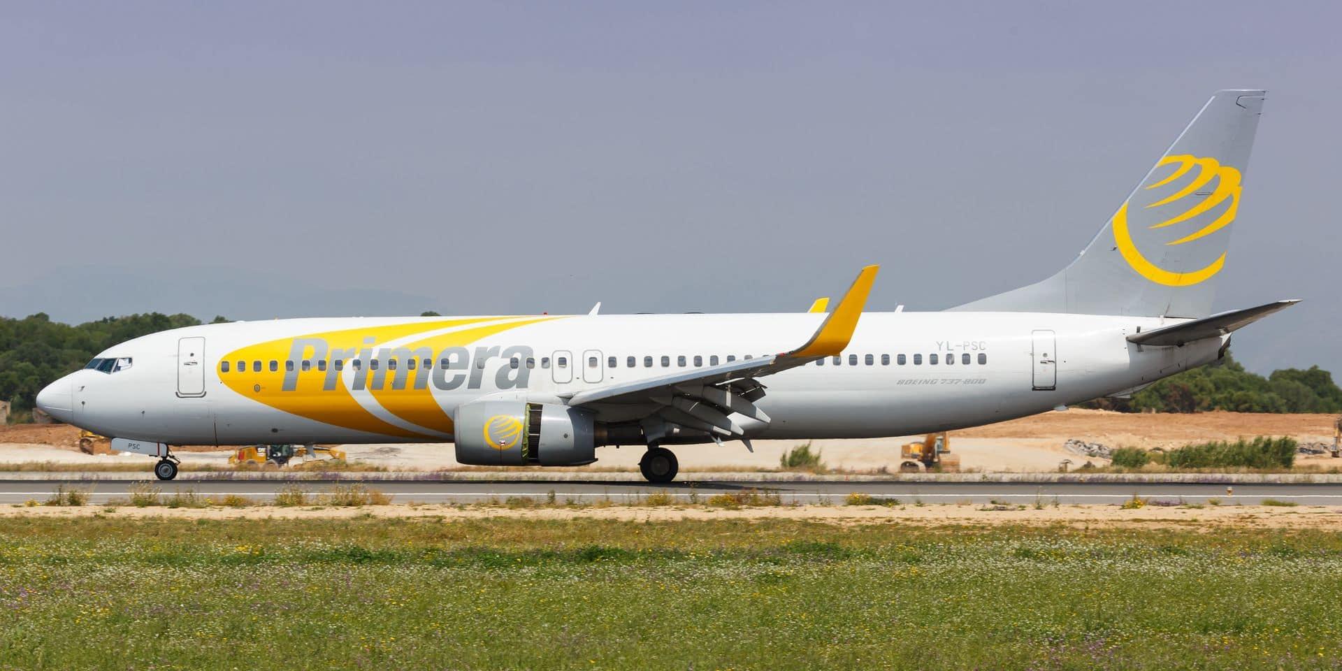 Primera Air, qui proposait des vols à bas prix depuis Bruxelles vers les Etats-Unis, fait faillite