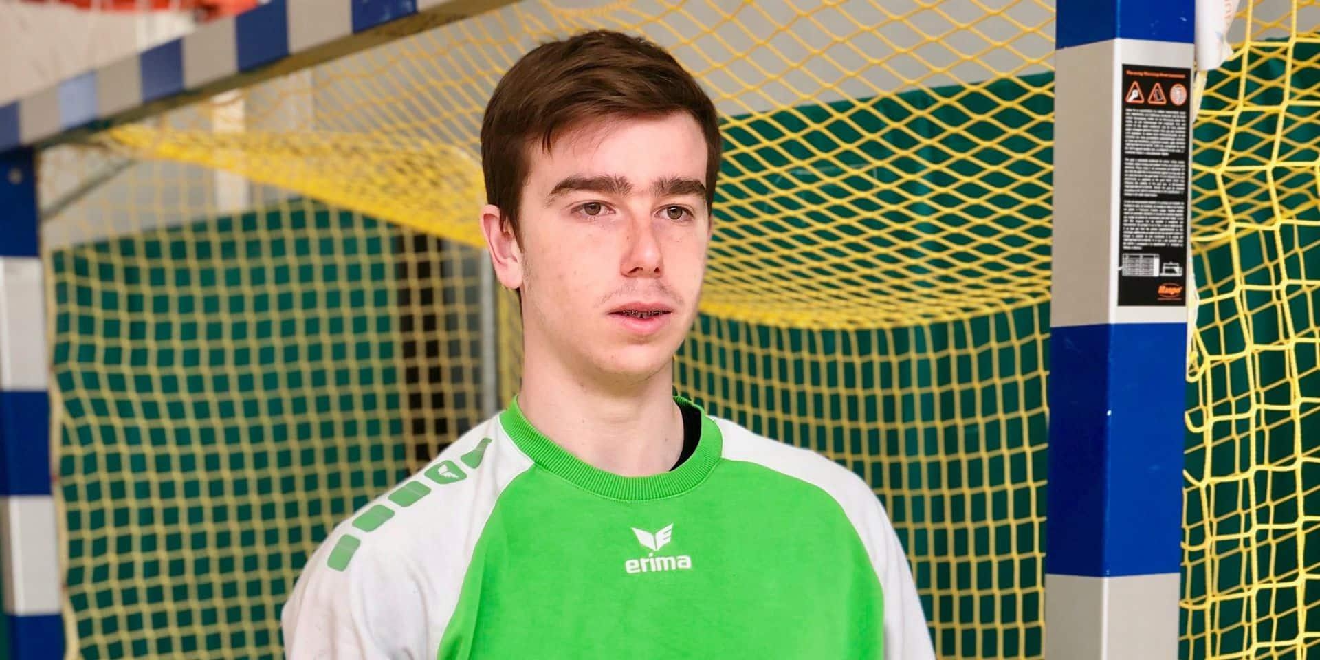 """Alessio Reumont, seul handballeur brabançon en activité actuellement: """"Un sentiment de liberté"""""""