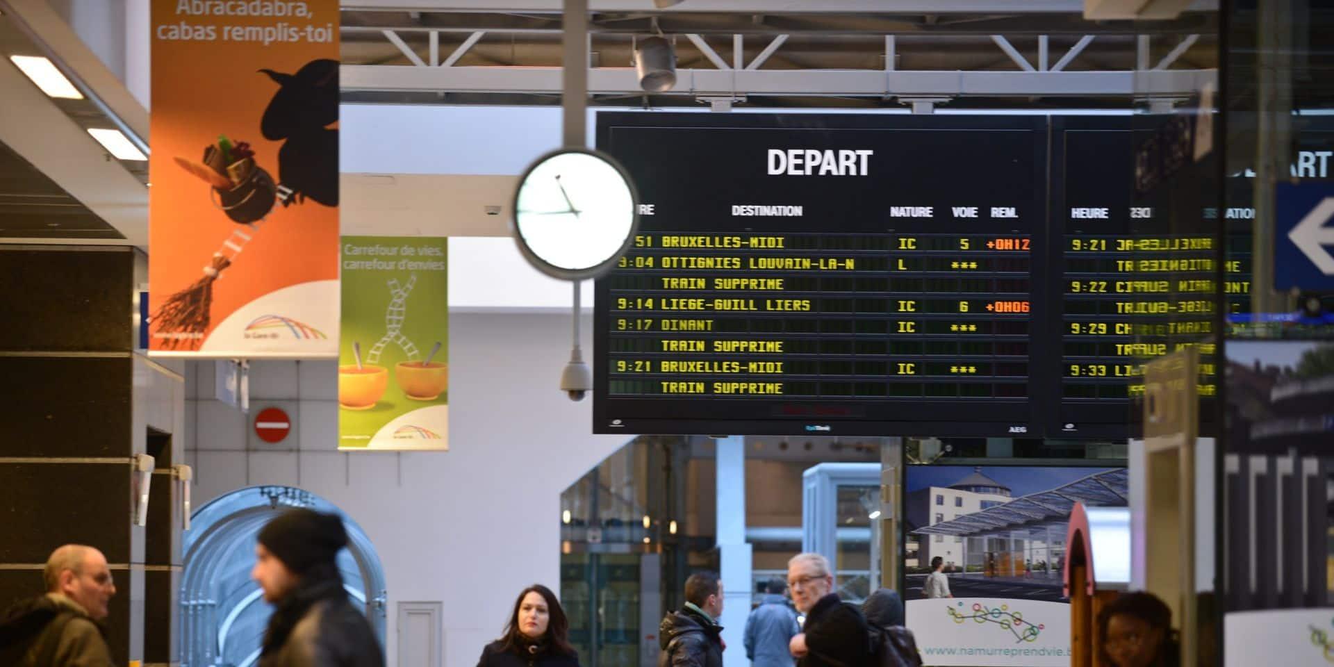 Des peines de 2 et 3 ans avec sursis pour la moitié pour un vol avec violence en gare de Namur