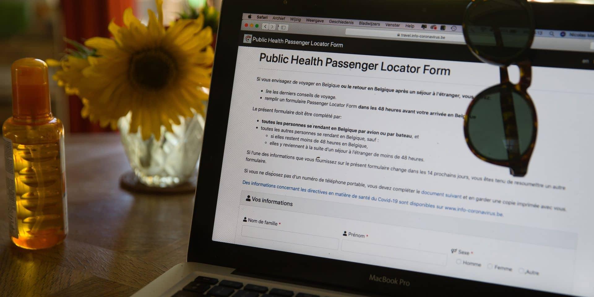 """""""Passenger Locator Form"""" : plus de 240.000 formulaires obligatoires ont été remplis"""