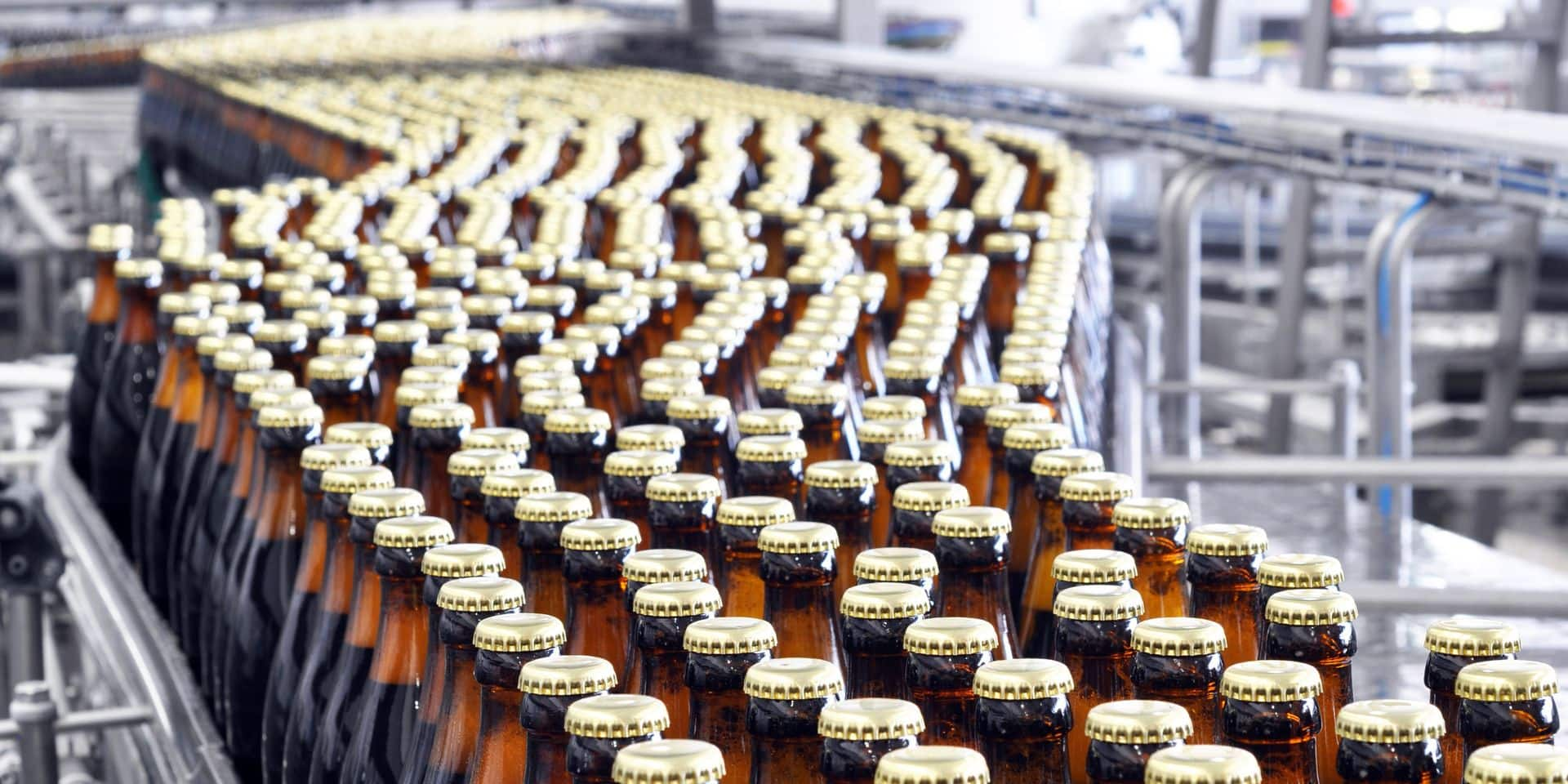 Beer,Filling,In,A,Brewery,-,Conveyor,Belt,With,Glass