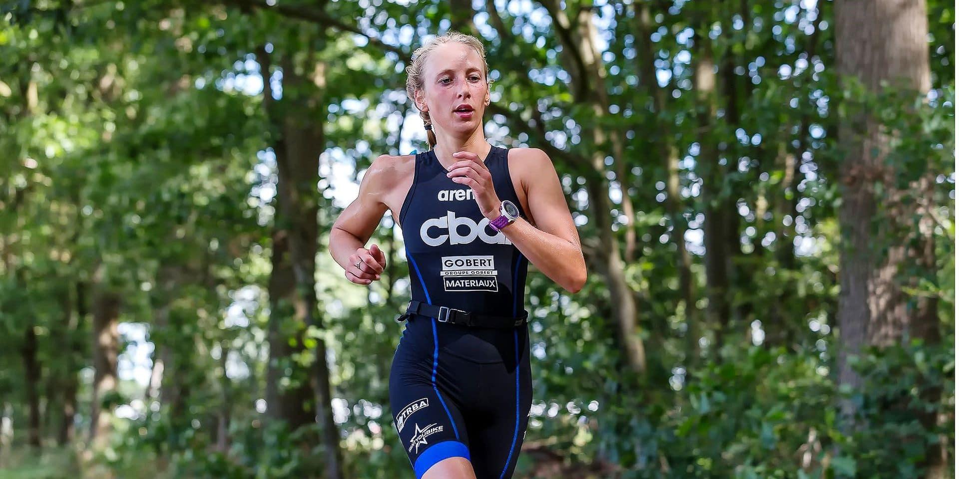 Kelly Decaluwé a terminé le triathlon demi-distance d'Eupen avec une belle troisième place !