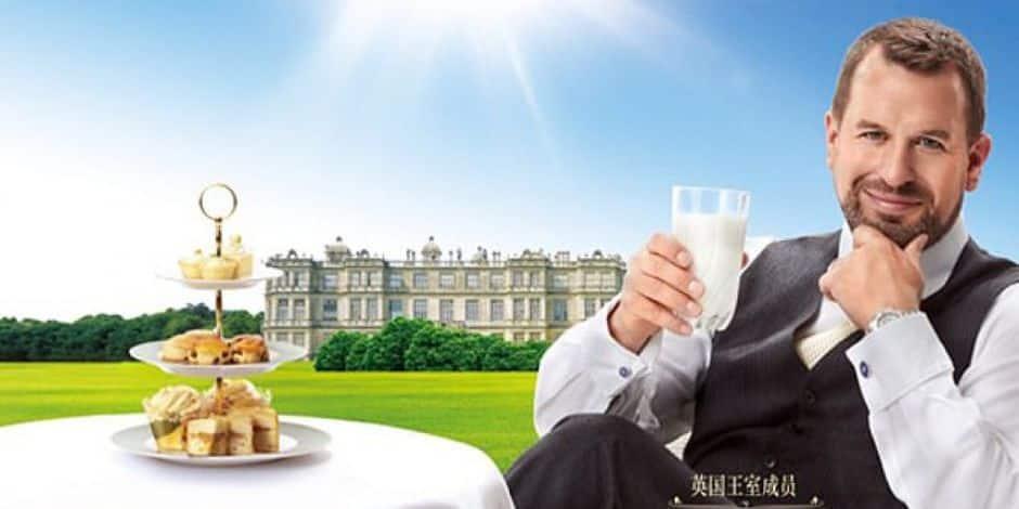 Des proches des Windsor vantent le lait britannique en Chine