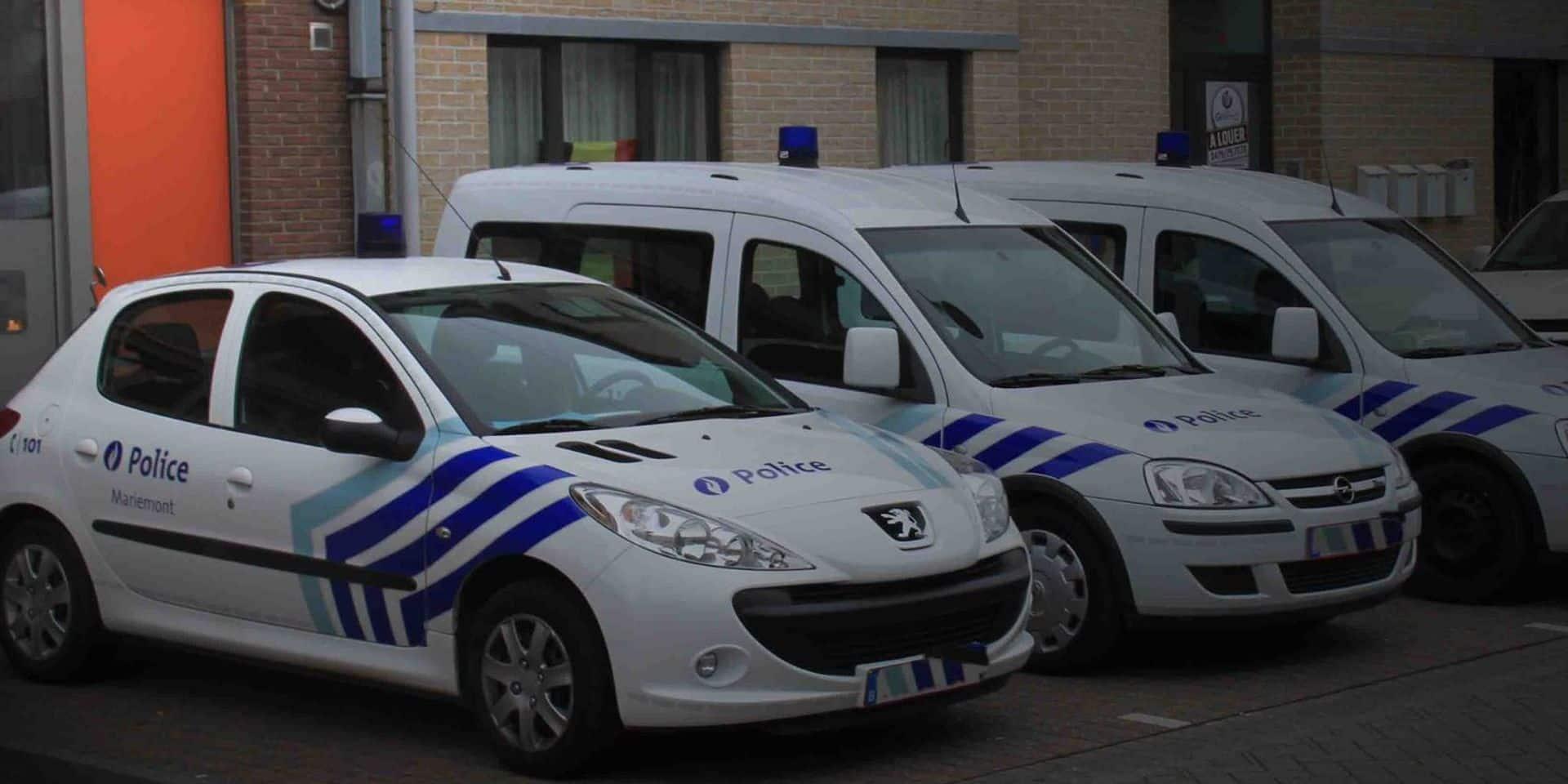 Un véhicule de police embouti par un conducteur ivre à Chapelle-lez-Herlaimont