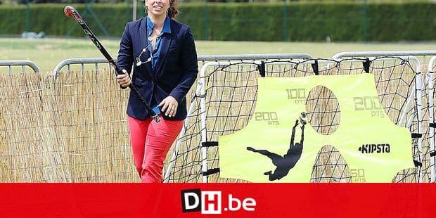 20150620 - BRUSSELS, BELGIUM: Hockey player Nadine Khouzam pictured during the 'Run to Rio, olympic MarathLon' running event, organised by the BOIC-COIB Belgian olympic committee, in Watermaal-Bosvoorde/ Watermael-Boitsfort, Brussels, Saturday 20 June 2015. BELGA PHOTO BRUNO FAHY