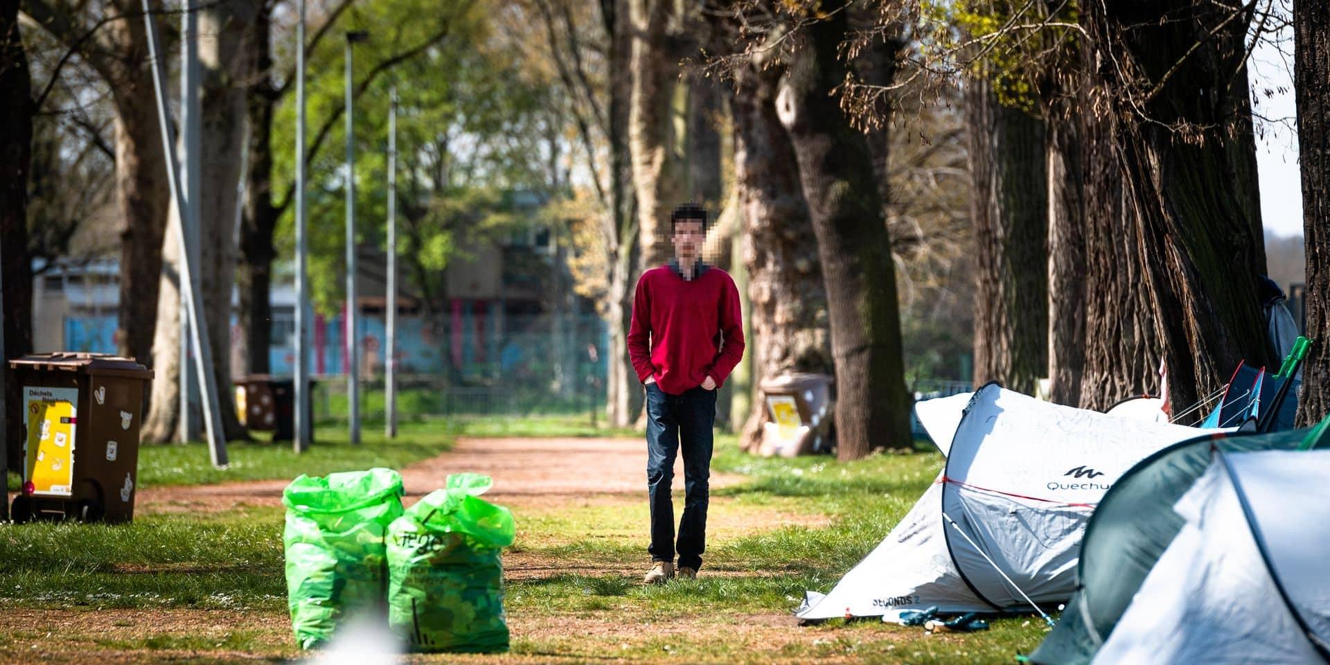 Liege - Parc Astrid - Coronmeuse - Coronavirus: La ville de Liege et la Province mettent en place un accueil et une intendance sanitaire pour les citoyens precarises et les sdf