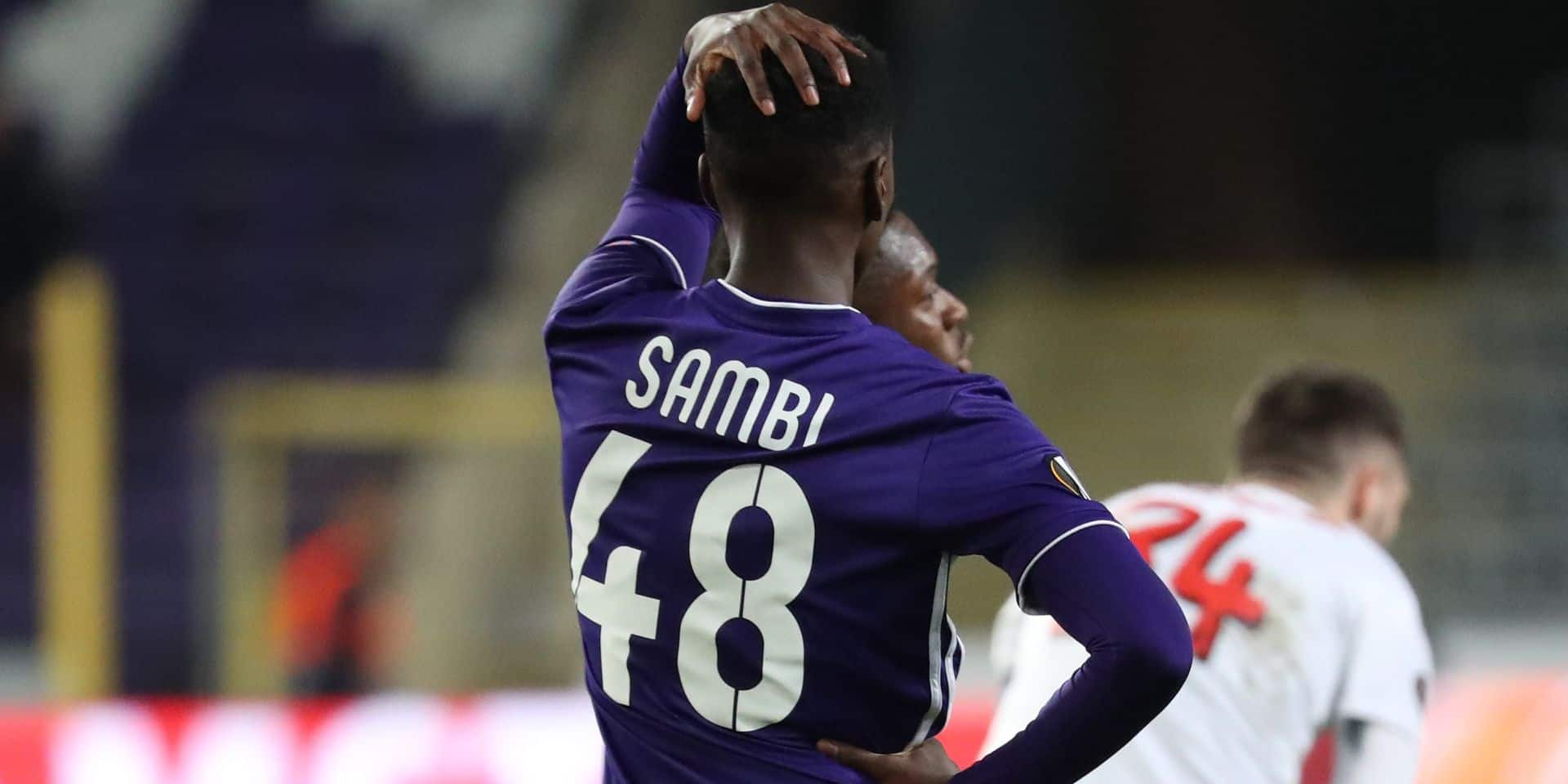 Anderlecht: Saison finie pour Sambi Lokonga