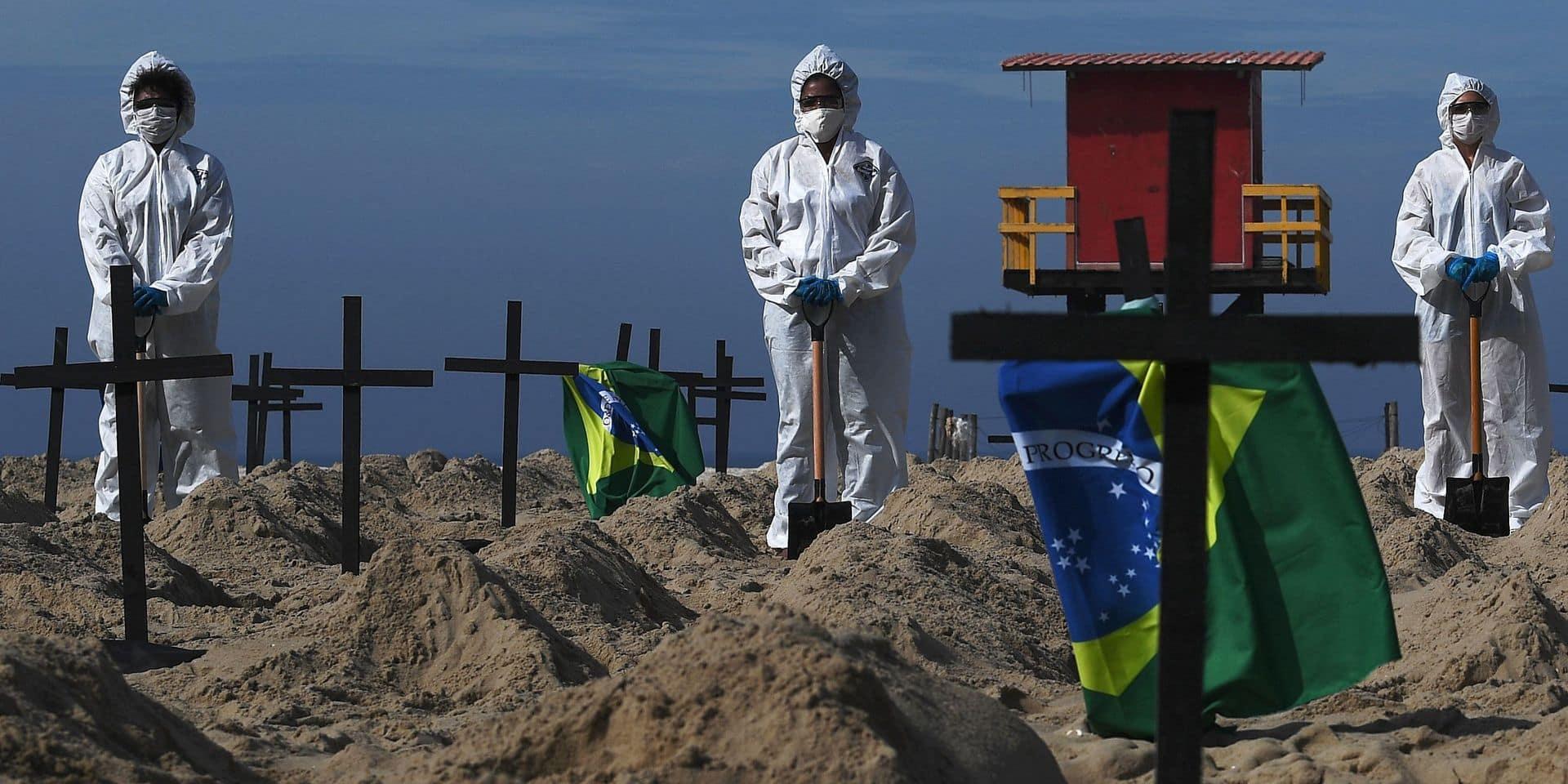 Le Brésil a dépassé les 400.000 morts du Covid