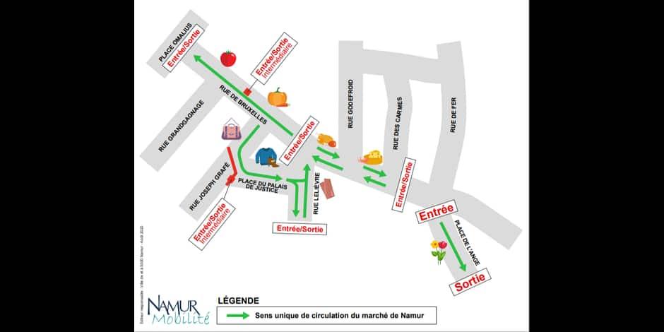 Marchés : des ambulants supplémentaires à Namur et La Plante et un nouveau plan de circulation à Namur