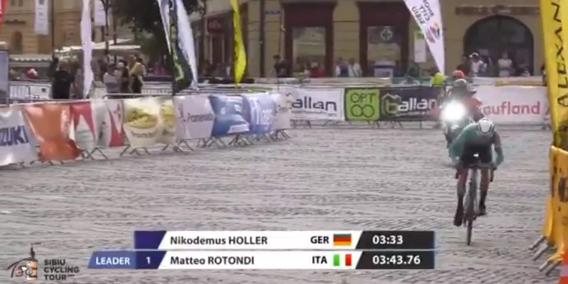 Tour de Sibiu: l'Allemand Nikodemus Holler vainqueur du prologue