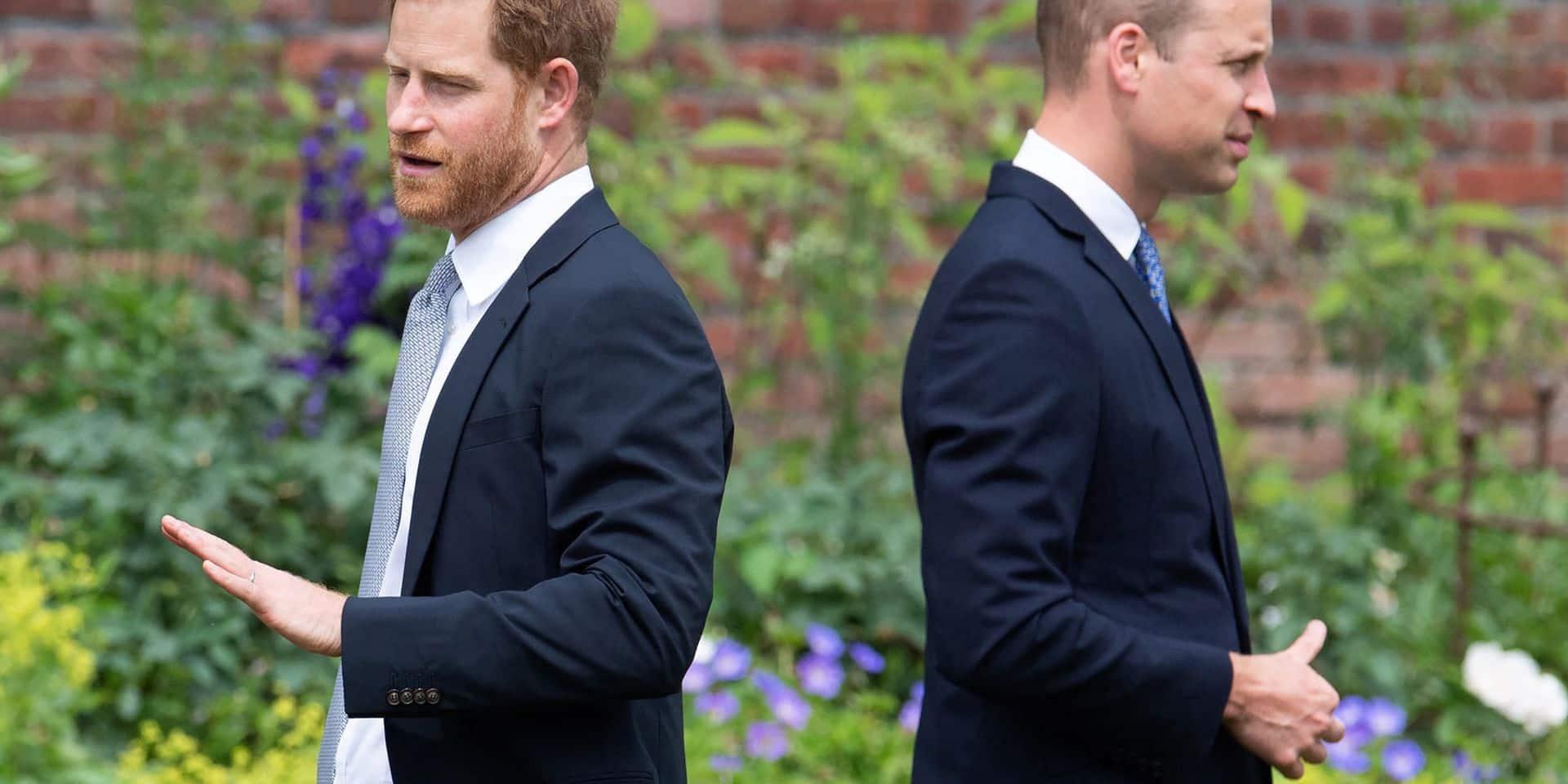 Toujours pas de réconciliation en vue entre William et son frère: Harry est reparti 20 minutes après l'hommage à Diana