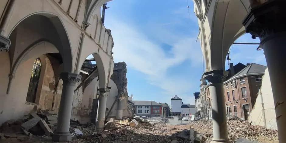 La démolition de l'église Sainte-Marie au tribunal en septembre: le chantier reprendra-t-il?