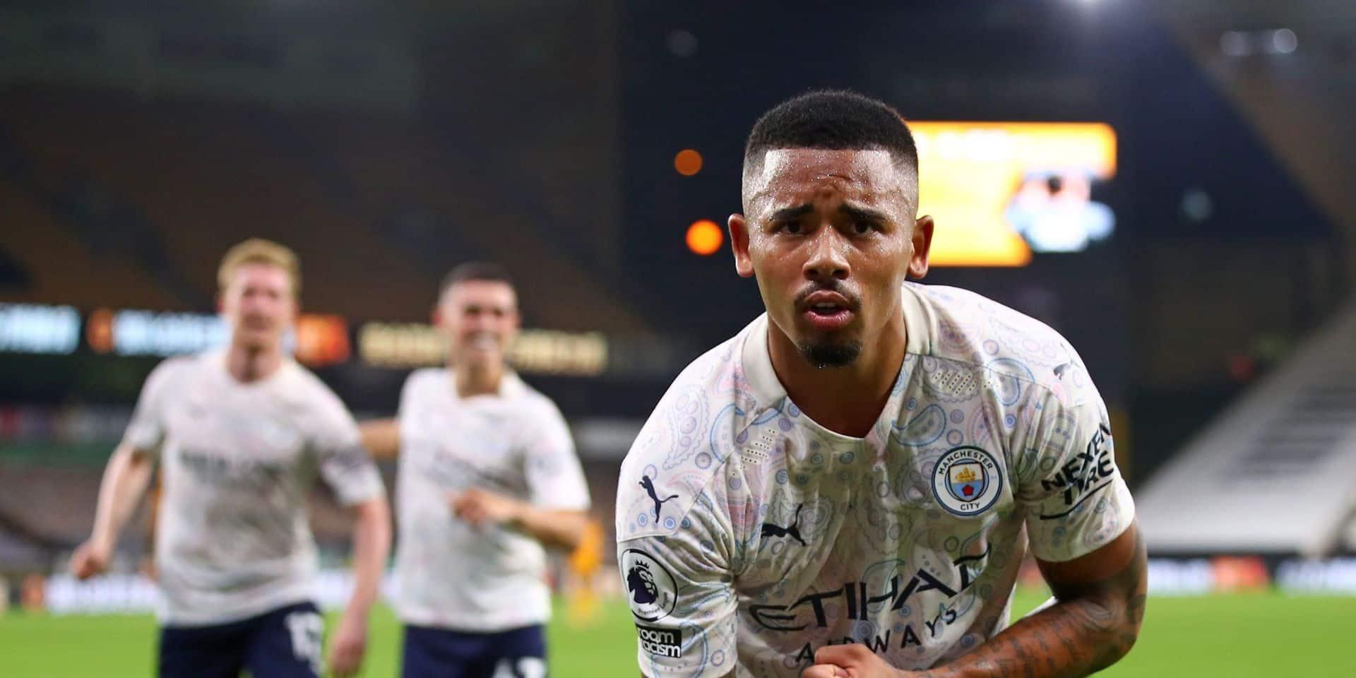 Gabriel Jesus (Manchester City) absent au moins trois semaines