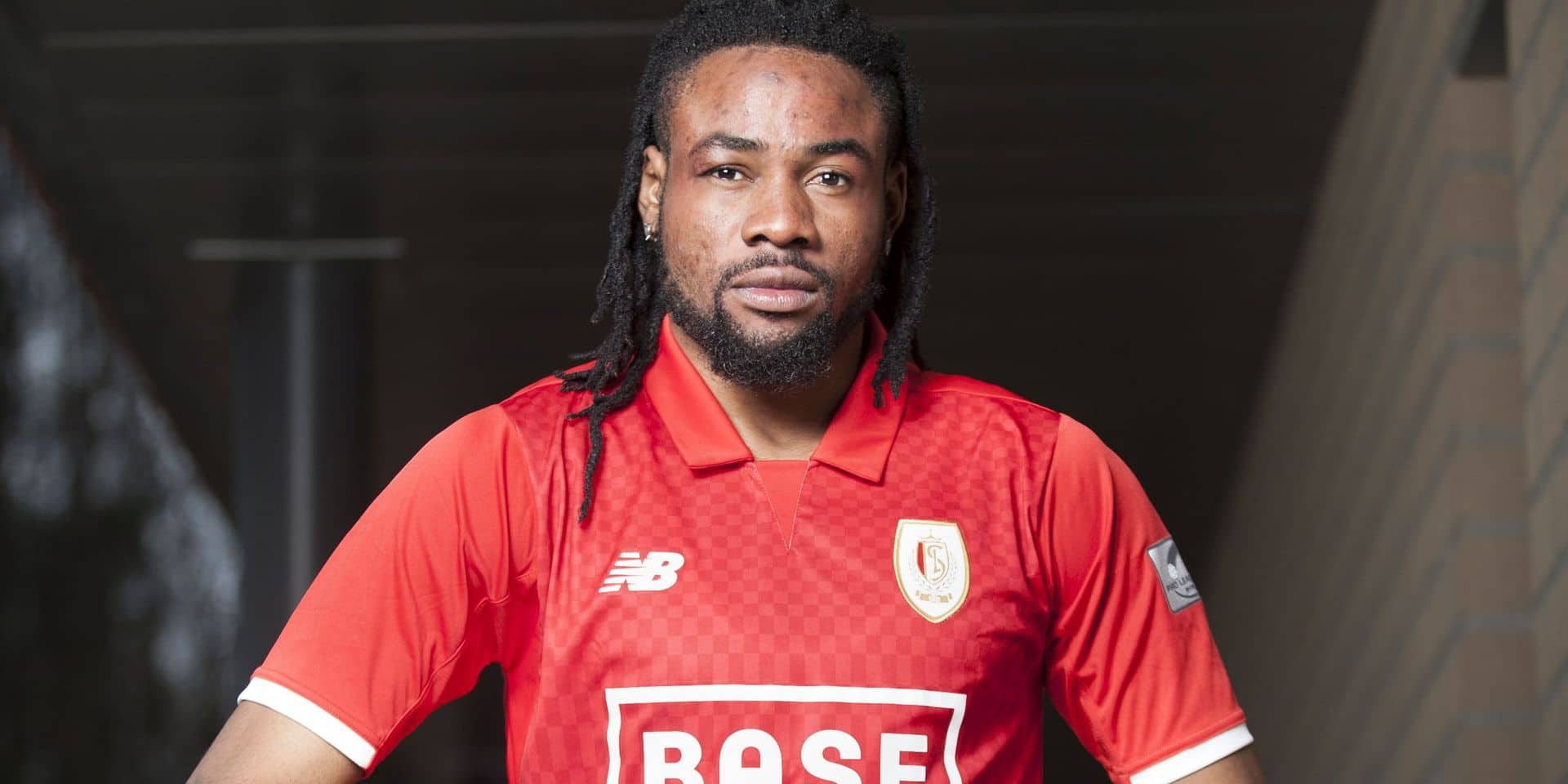 Congolese defender Christian Luyindama of Standard de Liege pictured during a photoshoot in Liege, Thursday 05 April 2018. BELGA PHOTO CHRISTOPHE KETELS