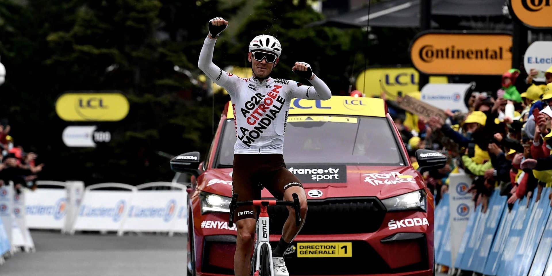 L'Australien Ben O'Connor remporte sa première étape sur le Tour de France, Pogacar conforte encore son maillot jaune