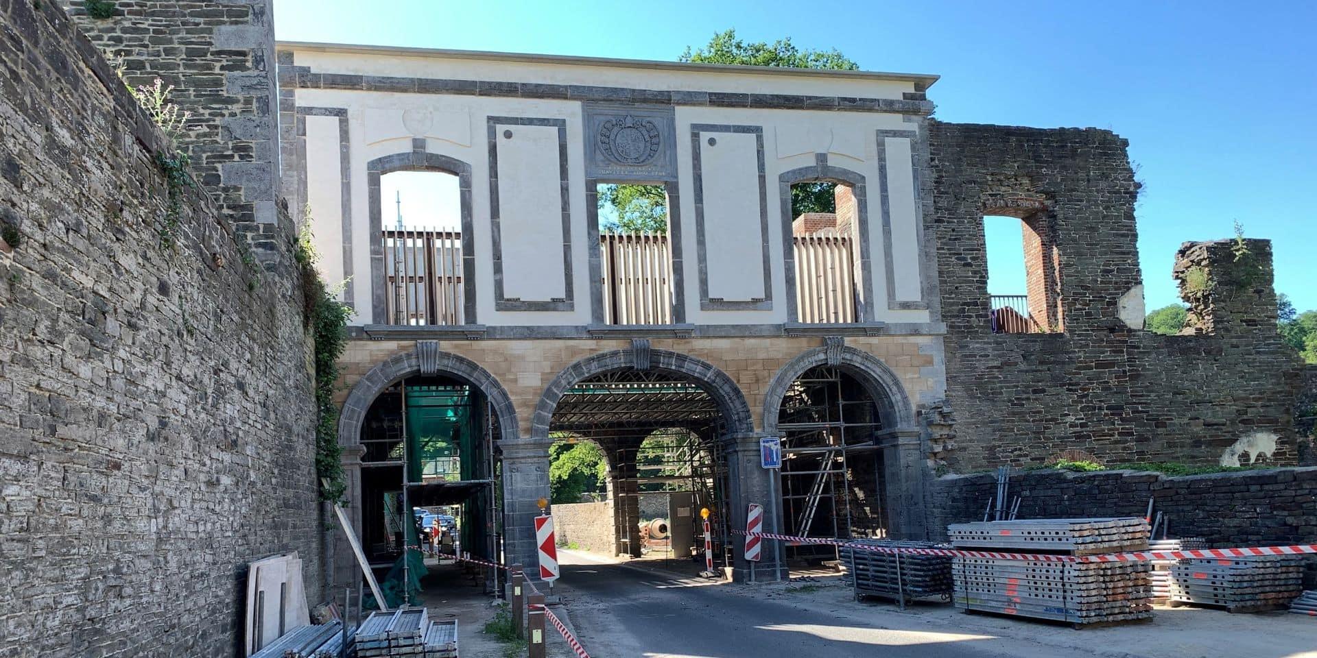 Les arcades de l'abbaye de Villers se dévoilent, le chantier est presque terminé